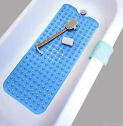 Bath Tub Mat Extra Long Anti Slip Bathroom Shower Blue Batht