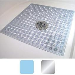 GORILLA GRIP Bath Tub Mat Non-Slip Strong Suction Cup Square