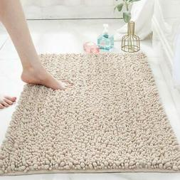Bathroom Water Absorbent Rug Chenille Non-Slip Shower Mat Sh