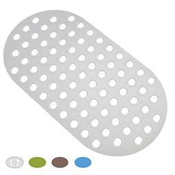 Colorful Star Bathtub Mat Non-Slip Big Drain Hole with Sucti