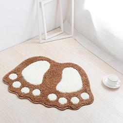 HAPLOVE Big Feet Bath Toilet Mat Area Rugs Carpet Doormat Fl