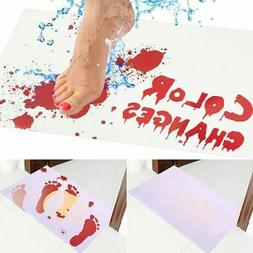 Blood Bath Set Shower Gel Towel Mat Bloody Footprints Horror