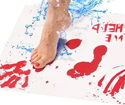 Bloody Bath Mat Sheet – Invisible Color Changing Sheet Tur