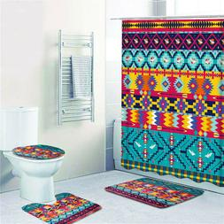Bohemia Style Printing Bathroom Shower Curtain Toilet Cover