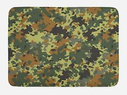 "Camo Bath Mat Bathroom Decor Plush Non-Slip Mat 29.5"" X 17.5"