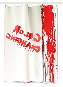 IntroWizard Color Change Shower Curtain, Flat Sheets, Resiza
