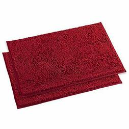 Chenille Bath Rugs Bathroom Extra Soft And Absorbent Shaggy