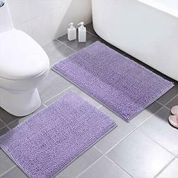 MAYSHINE Chenille Bathroom Rugs Extra Soft and Absorbent Sha