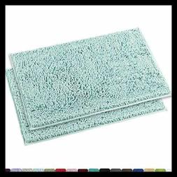 MAYSHINE Chenille Bathroom Rugs Extra Soft & Absorbent Shagg