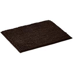 Chenille Loop Bath Mat Brown Large Absorbant and Velvety Sof
