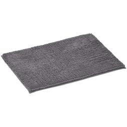 chenille loop memory foam bath mat grey