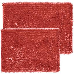 Sweet Home Collection Chenille Noodle 2 Piece Bathroom Rug S