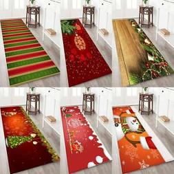 Christmas Non-slip Flannel Fabric Area Mat Rubber Back Bath