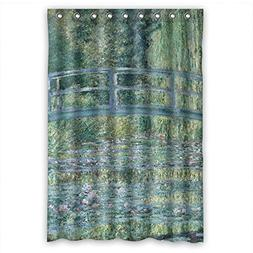 The Claude Monet Art Painting Bath Curtains Of Polyester Wid