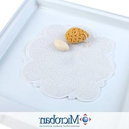 Cloud Shower Mat with Microban - White