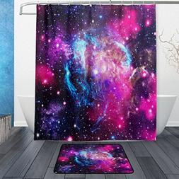 ALAZA Set of 2 Comos Universe Outer Space 60 X 72 Inches Sho