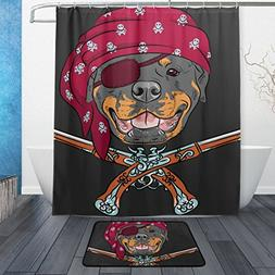 Cooper girl Dog Rottweiler Pirate With Pistols Waterproof Sh