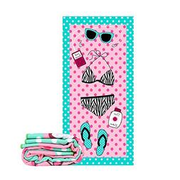 Jangostor Cotton Beach Towels 60×28 inches With Tassel Extr