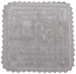 DII 100% Cotton Crochet Square Luxury Spa Soft Bath Rug, For