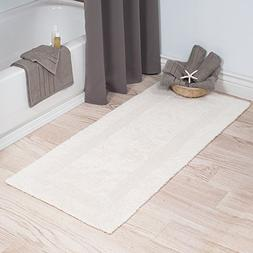 Lavish Home Cotton Bath Mat- Plush 100 Percent Cotton 24x60