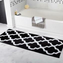Lavish Home 100% Cotton Trellis Bathroom Mat - 24x60 inches