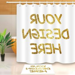 Customized Shower Curtain Waterproof Polyester Fabric & 12 H