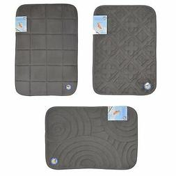 Dark Gray Memory Foam Bath Mat/area rug: Non-skid, Absorbent