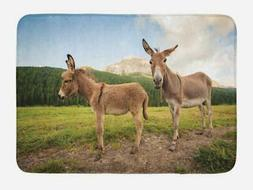 "Donkey Bath Mat Bathroom Decor Plush Non-Slip Mat 29.5"" X 17"
