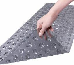 Extra Long Bathtub Mat with Strong Suckers Non Slip Bath Mat
