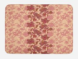 Ambesonne Floral Bath Mat by, Boho Flowers in Vibrant Colors