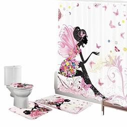 Amagical Flower Fairy Girl with Butterfly 16 Piece Bathroom