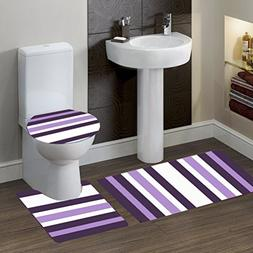 gorgeoushomelinen purple striped bathroom set