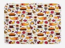 "Harvest Bath Mat Bathroom Decor Plush Non-Slip Mat 29.5"" X 1"