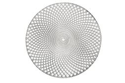 "Holiday Decorative 15"" Round Vinyl Spiral Placemat, Set of 4"