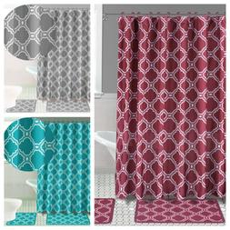 HONEY COMB NEW STYLE 4PC SET BATHROOM BATH MAT RUG SHOWER CU