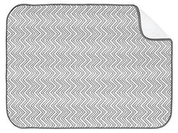 InterDesign iDry Chevron Kitchen Mat, 24 x 18, Gray/White