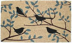 "J & M Home Fashions Birds Vinyl Back Coco Doormat, 18"" x 30"""