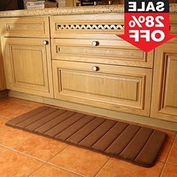 "KMAT 47"" x 17"" Long Anti-Fatigue Memory Foam Kitchen Mats Ba"