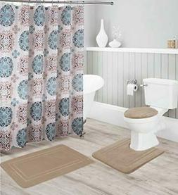 Kids Zone Home Linen 16pc Taupe Bathroom Accessory Set - Non