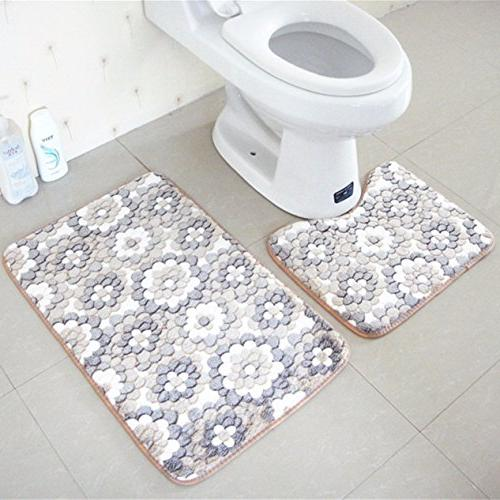 1 set rug bath mat