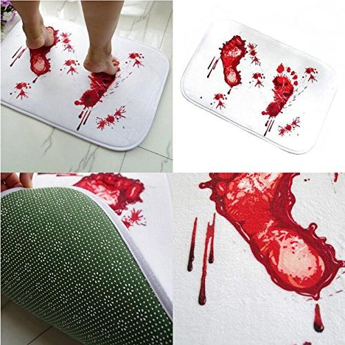 1 Sets Funny Doormat Red Foot Kids Non Round Rubber Absorbent Exceptional Popular Hotel Washable WC Bathtub Mat