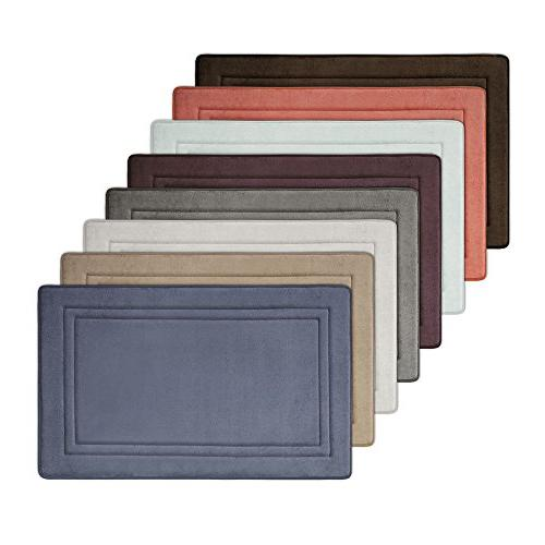 MICRODRY 10874 Quick Drying Memory Bath mat with skid-resistant