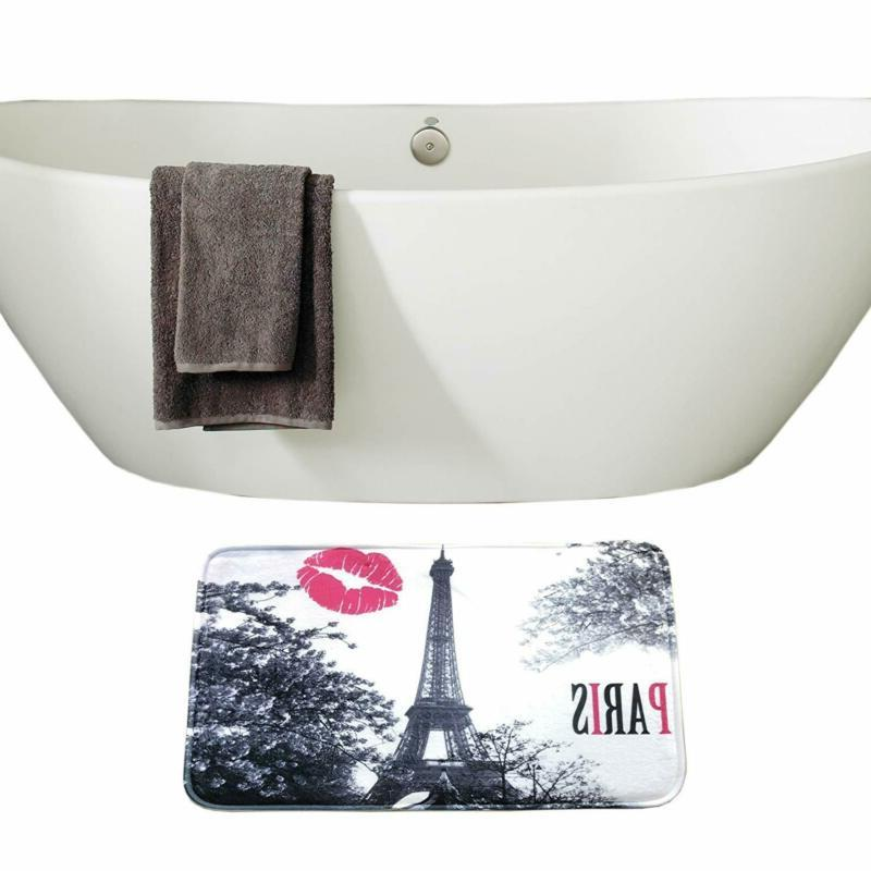 Paris Eiffel Shower Curtain Mat