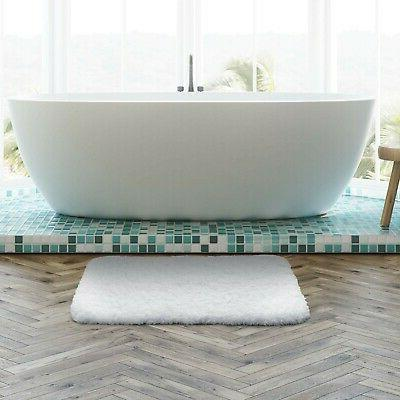 """Lifewit 16""""x24"""" Non-Slip Bathroom Rug Water Absorbent, Wh..."""