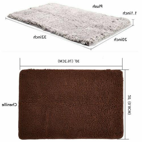 2x Door Bath Mat Shaggy Carpet