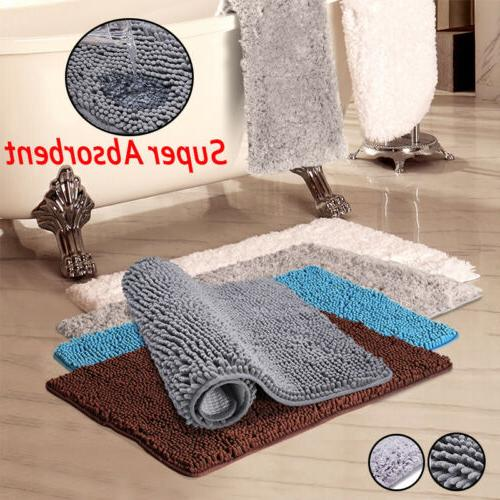 2x Floor Mat Rug Shaggy Carpet