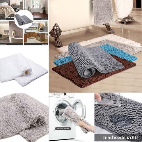 2x floor door bath mat rug non
