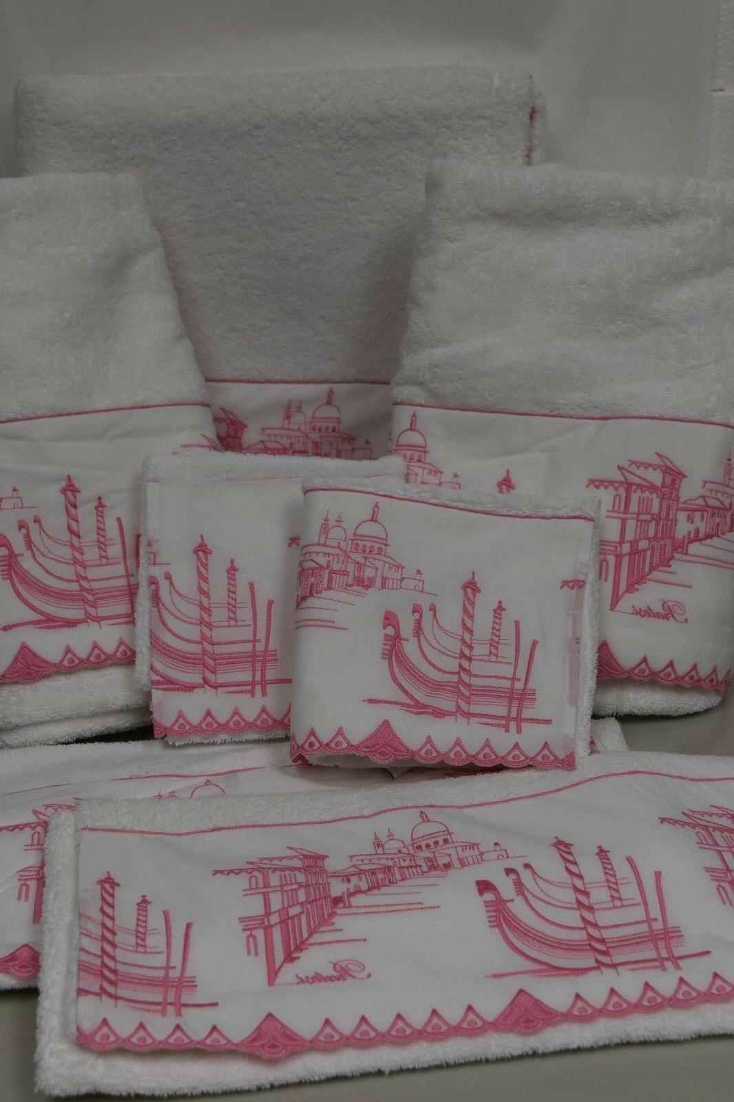 3255 new giudecca embroidered lace white pink