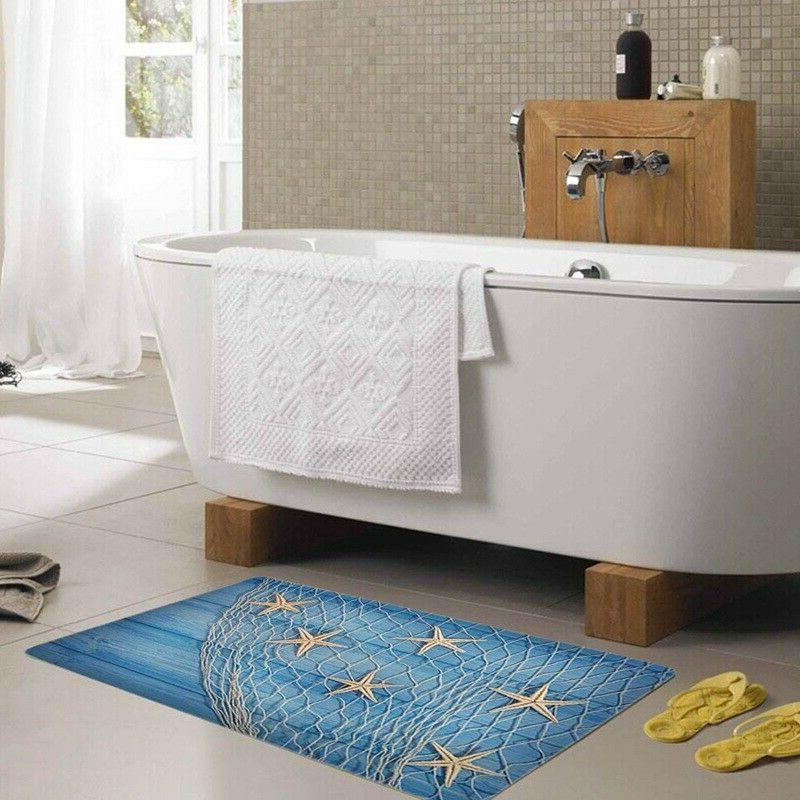 3D Slip Absorbent Bath Bathroom Area Rugs Carpet