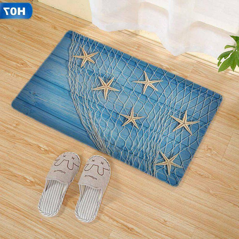 3D Flannel Non Slip Mat Bathroom Carpet